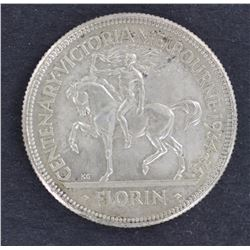 1934/35 Florin Nearly Unc, full wreath