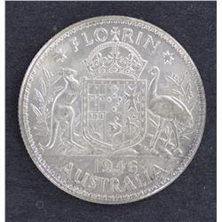 1946 Florins Unc/Gem Unc 5 Coins