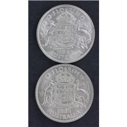 1951 & 1952 Florins Uncirculated