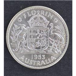 Florins 1953,58,59,60,61,62,63 BU