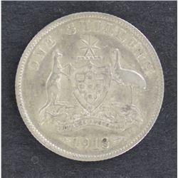 1913 Shilling Fine
