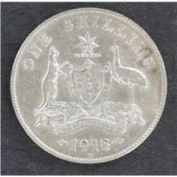1918 Shilling EF plus