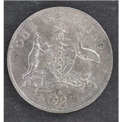 1921 Shilling EF cleaned