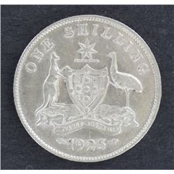 1925 Shilling aUnc