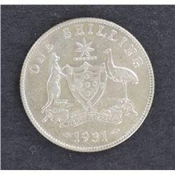 1931 Shilling aUnc