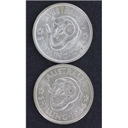 Shillings 1944 & 1944s Choice Unc