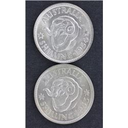 Elizabeth 11 Choice  Unc Shilling set 1953 to 1963