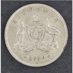 1919 Sixpence EF