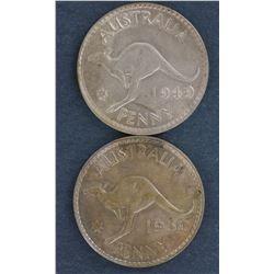 Pennies 1949, 1950, 1951 Uncirculated