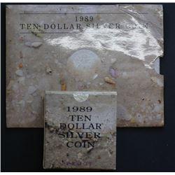 1989 $10 Unc & Proof