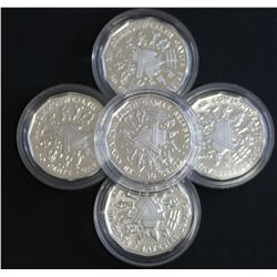 1989 Commonwealth Games 50c Proof in Sterling Silver (5)