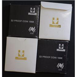 1984 $1 Proof (2) 1988 $2 Proof (2)