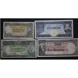 QE 11 Note Set 10/-, 1, 5 & 10 Pounds,