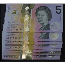 $5 Notes new Issue Run of 10