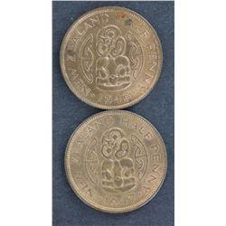 NZ 1/2d 1946,1947 BU