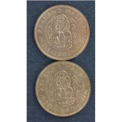 NZ 1/2D 1944,1946,1958,1961,1962 BU