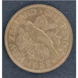 NZ penny 1952 BU