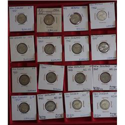 NZ Complete Sixpence Set 1933 to 1965 Above Average