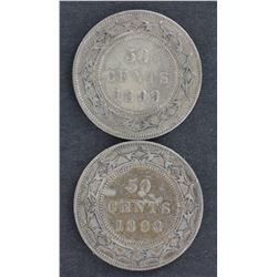 Newfoundland 50c 1898 & 1899 Fine plus