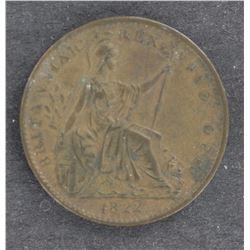 GB 1822 Farthing EF