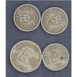 Portugese indi 4 coins