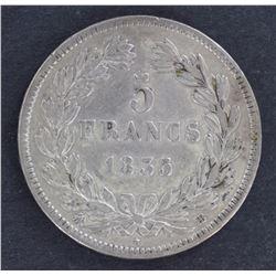 France 5 Franc 1835 VF