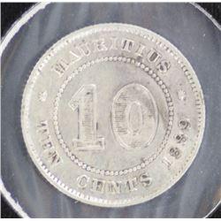 Mauritius 10c 1889 VF