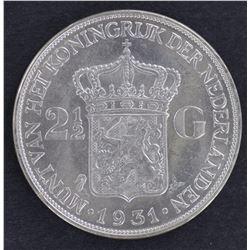 Netherlands Guilders 1930 & 1931 BU