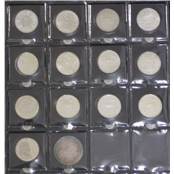 South Africa Group of 1 Rands 14 coins all silver