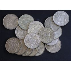 1966 50c , 17 coins