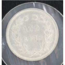 Portugal 100 reis 1893 UNC