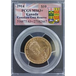 1914 $10 Canadian MS 63 Plus