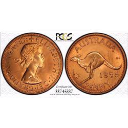 1958 Perth Penny PR 65 Red