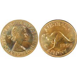 1955M Penny PR 64 Red
