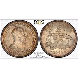 1910 Sixpence MS 65