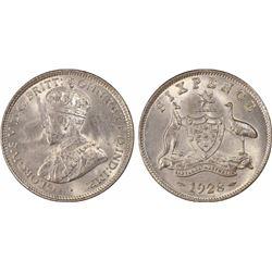 1928 Sixpence MS 64