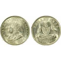 1934 Threepence MS 64