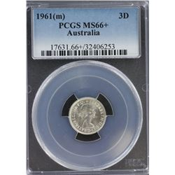 1961 Threepence MS 66 Plus