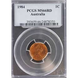 1984 1 Cent MS 66 Red
