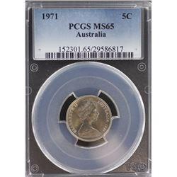 1971 5c MS 65