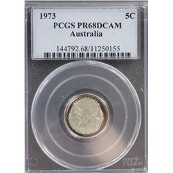 1973 5 Cent PR 68 DCAM