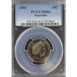 2001 10c MS 66