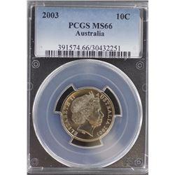 2003 10c MS 66