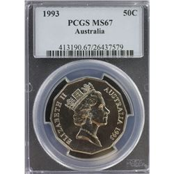 1993 50c MS 67