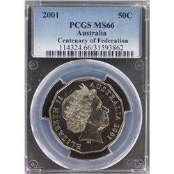 2001 50c MS 66