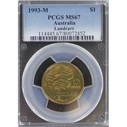 1993 M $1 MS 67