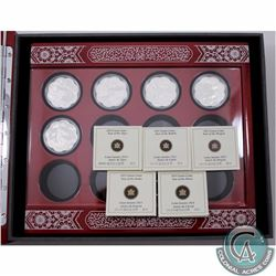 2010 to 2021 Canada Silver Lunar Lotus 12-Year Deluxe Subscription Display Box with 5 x Lunar Lotus