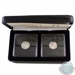 Pair of Ancient Roman Coins - Husband and Wife - Antonius Pius & Faustina Senior. Both Coins come en