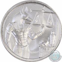 Anubis, Egyptian God of Funerals & Death 2 oz. Fine Silver Round (Tax Exempt)