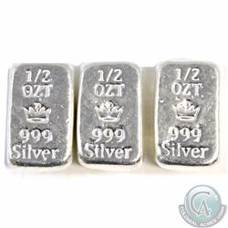 3x Monarch Mint 1/2 oz. .999 Silver Hand Poured Bar. You will receive a total of 1.5oz (TAX Exempt)